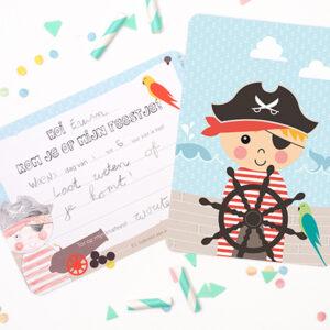 Papiergoed-Uitnodiging-Piraat