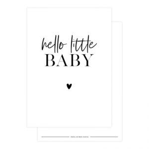 Lizet Beek, kaart A6, Hello little baby