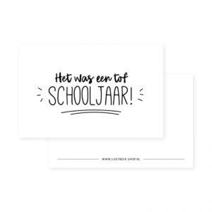 Lizet Beek, minikaartje / kadokaartje Tof schooljaar