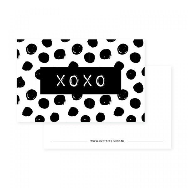 Lizet Beek, minikaartje / kadokaartje XOXO
