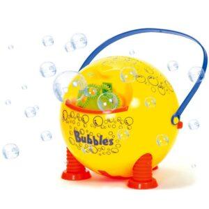 Super leuke bellenblaas machine voor uren buiten speel plezier! Je ontvangt de machine en een flesje bellenblaasvloeistof. De batterijen zitten er niet bij ( 2 x AA batterijen ) TOP kado!