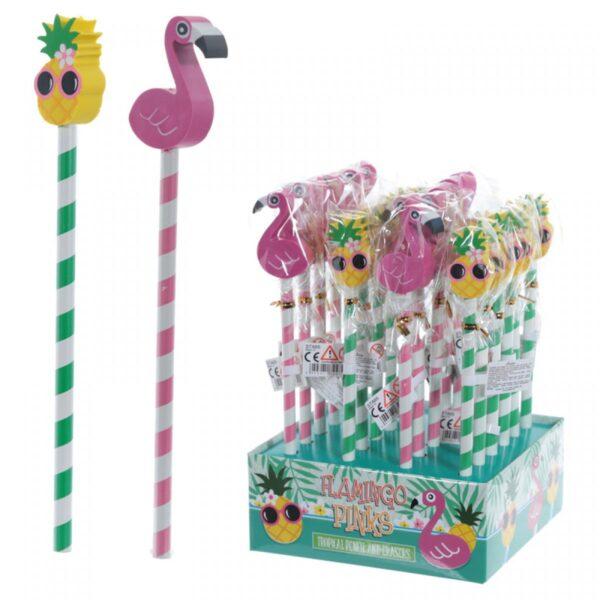 Gift , flamingo / ananas potlood