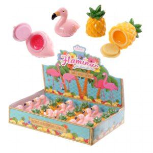 Gift, lippenbalsem flamingo / ananas