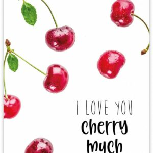 Give X, A6 kaart, I love you cherry much