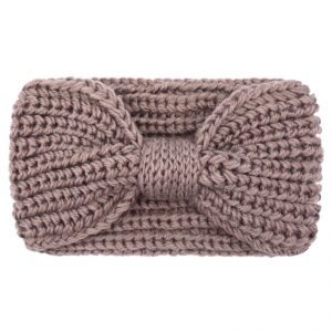 Haarband / hoofdband wol , bruinroze
