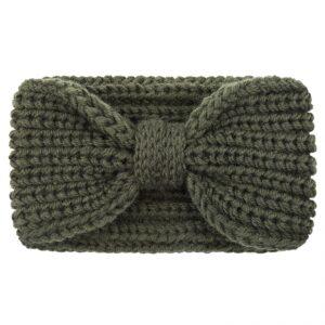 Haarband / hoofdband wol , groen