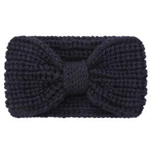 Haarband / hoofdband wol , zwart