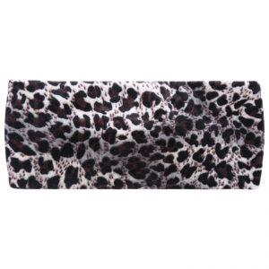 Haarband luipaard panter print , blauwgrijs zwart