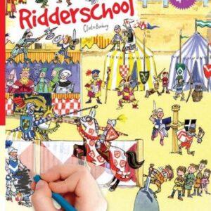 Scribble down, krasplaatjes incl plaat, Ridderschool