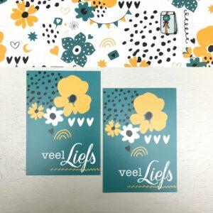 ViaSuuS print, minikaartje Liefs petrol