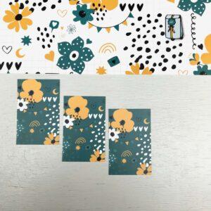ViaSuuS print, minikaartje petrol