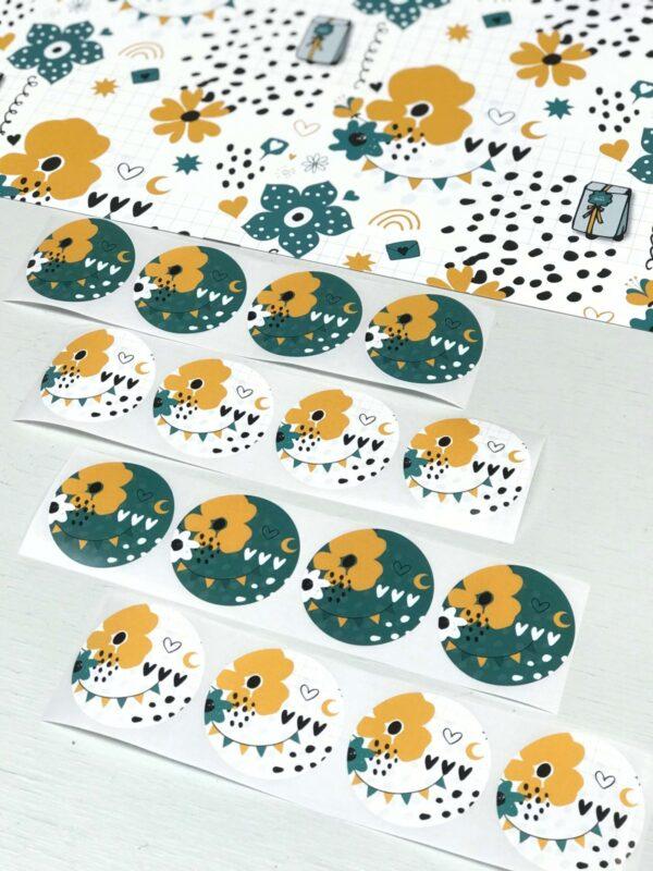 ViaSuuS print, sticker rond 50mm wit ( per 10 stuks )