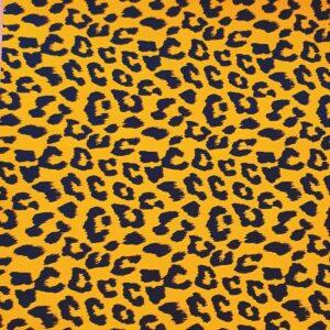 Inpakpapier, Okergeel zwart Leopard panter cheetah print 30 x 100 cm