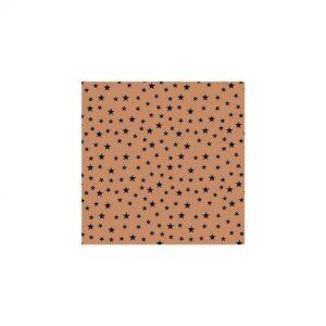Kadopapier / inpakpapier , 30cm x 100cm , Koper met zwarte sterretjes
