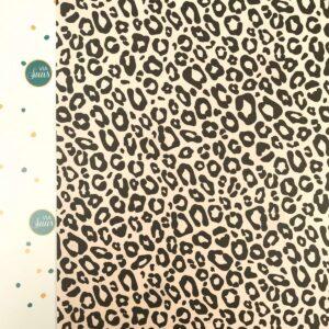 Kadopapier / inpakpapier , 30cm x 100cm , Leopard panter nude