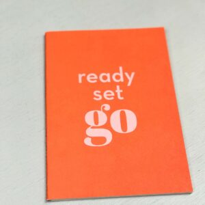Schriftje A5 `Happy` Neon orange, Ready Set Go
