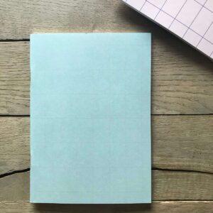 Schriftje A5 `grid` mint met nude streepje