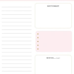 Stationery & Gift, Daily planner `my day today` panter roze