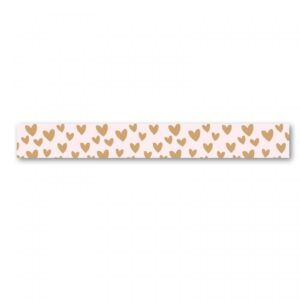 Stationery & Gift, Washi tape Hartjes roze caramel