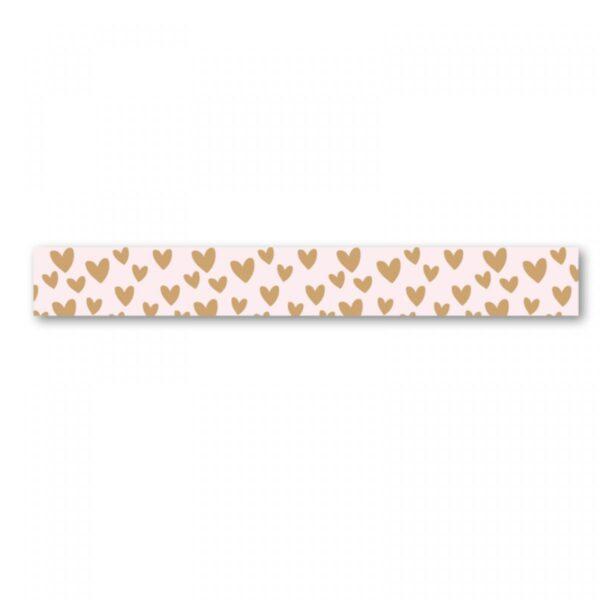 Stationery & Gift, Washi tape Hartjes roze caramel