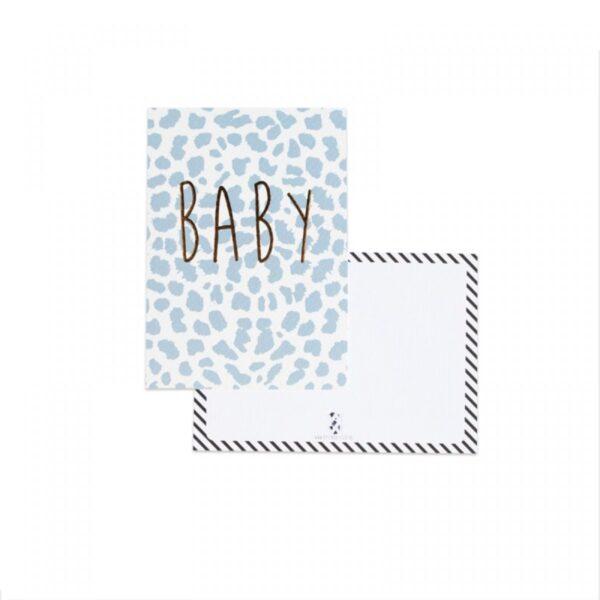 Studio Steef, kaart A6, Baby panter blauw