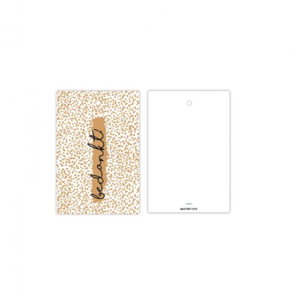 Studio Steef, minikaart / kadolabel , Bedankt