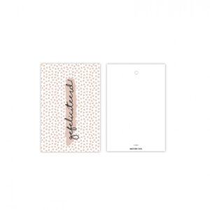 Studio Steef, minikaart / kadolabel , Gefeliciteerd