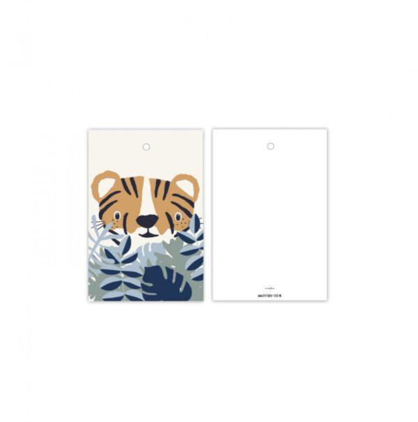 Studio Steef, minikaart / kadolabel , Tijger