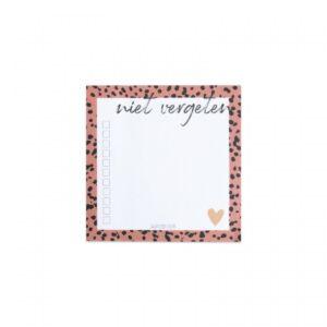 Studio Steef, notitieblokje klein `Niet vergeten`