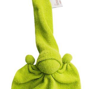 Süssekind Duimpopje badstof 10cmx12cm ( zonder muts gemeten ) Lime groen