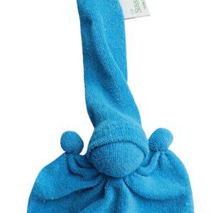 Süssekind Duimpopje badstof 10cmx12cm ( zonder muts gemeten ) Turquoise