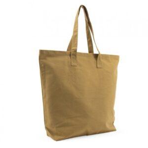 Tas, grote stevige katoenen tas, Warm mint ( 53cmx14cmx48cm)