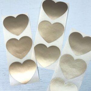 Sticker, hart 50mm, Mat goud ( per 10 stuks )