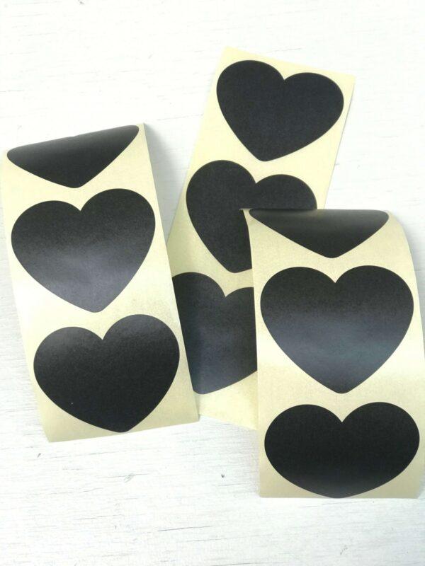 Sticker, hart 50mm, Mat zwart ( per 10 stuks )