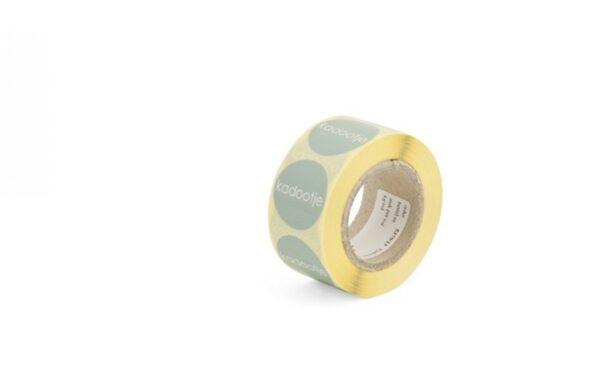 Sticker, rond 30mm, `Kadootje` Mint ( per 10 stuks )
