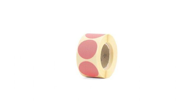 Sticker, rond 35mm, Neon oranje oranje Tinne Mia ( per 10 stuks )
