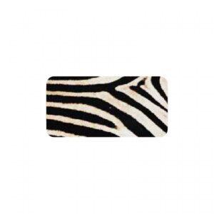 Stickers rechthoek, Zebra print, per 10 stuks