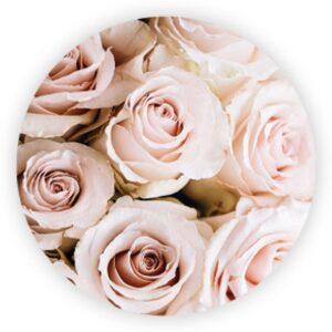 X- Sticker, roosjes roze, per 10 stuks